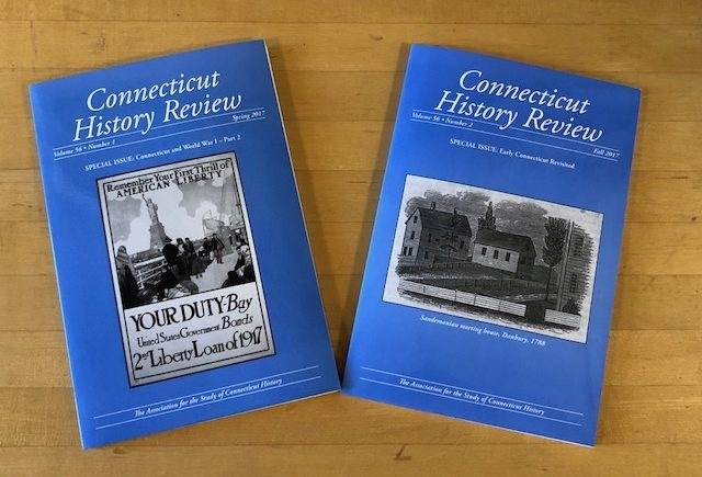Connecticut History Review 2017 Issues