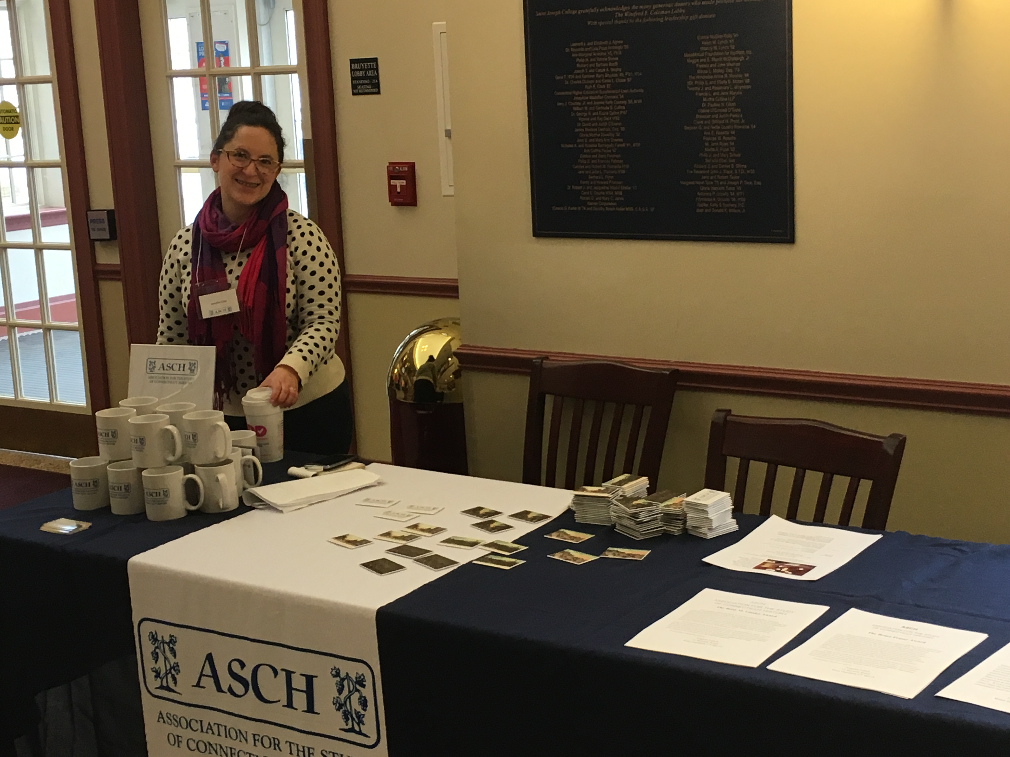 VP Jen Cote at the sales table